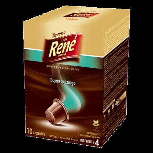 Café René Espresso Lungo Nespresso kaffekapslar 10st utgånget datum