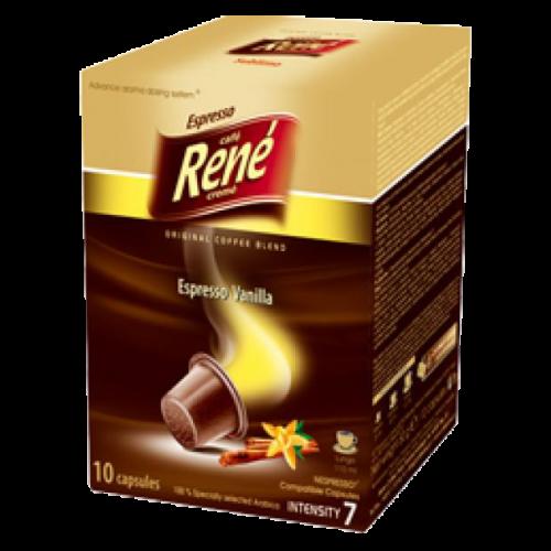 Café René Espresso Vanilla Nespresso kaffekapslar 10st