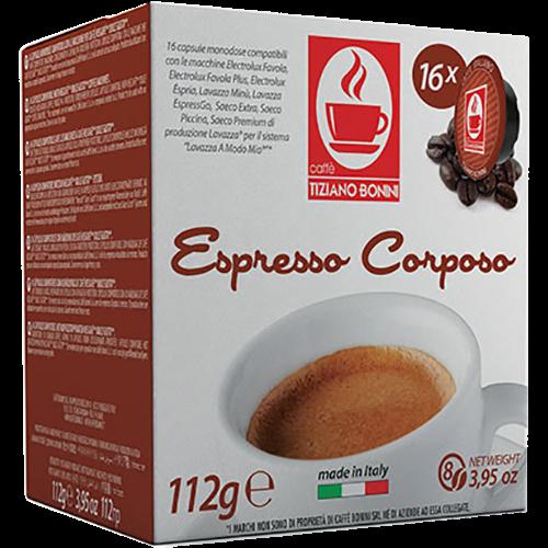 Caffè Bonini Corposo A Modo Mio kaffekapslar 16st