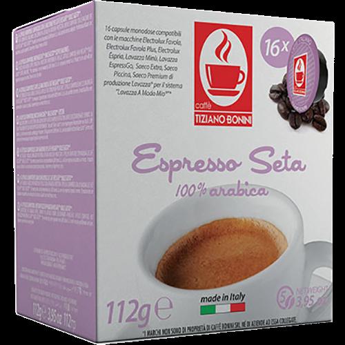 Caffè Bonini Seta A Modo Mio kaffekapslar 16st