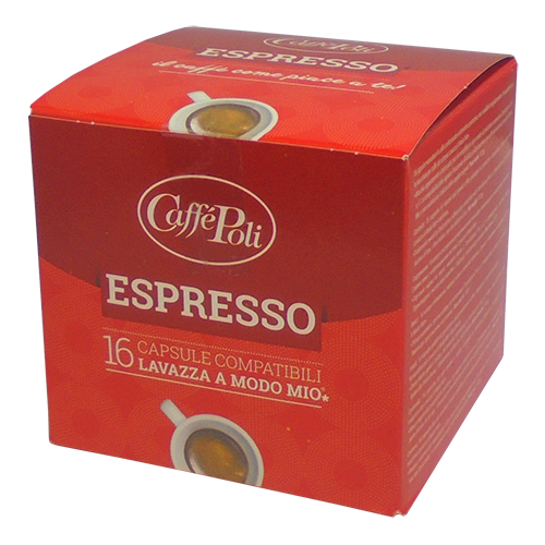 Caffè Poli A Modo Mio Espresso kaffekapslar 16st