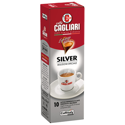Cagliari Silver Caffitaly kaffekapslar 10st