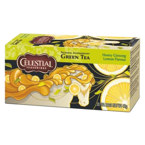 Celestial tea Honey Ginseng Lemon tepåsar 20st utgånget datum
