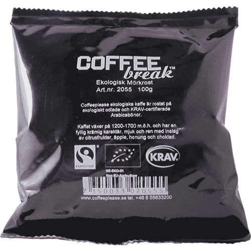 Coffeeplease ekologiskt mörkrostat bryggkaffe 100g
