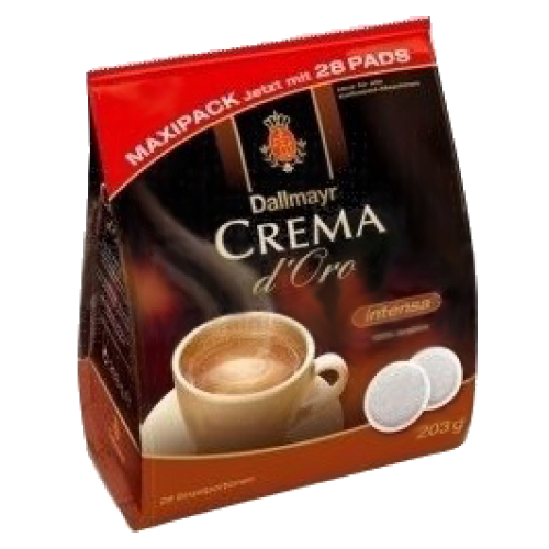 Dallmayr Crema d'Oro intensa kaffepads 28st