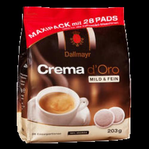 Dallmayr Crema d'Oro mild kaffepads 28st