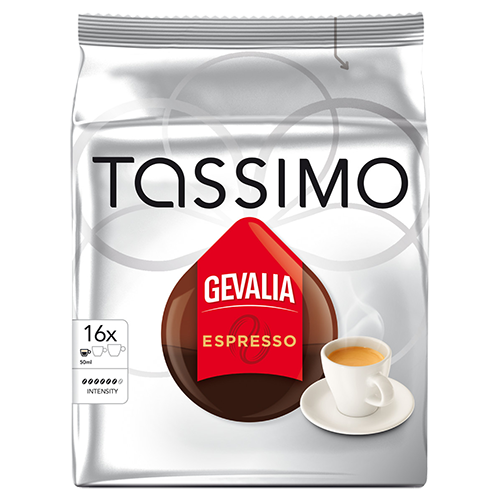 Gevalia Espresso Tassimo kaffekapslar 16st