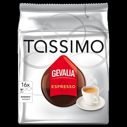 Gevalia Espresso Tassimo kaffekapslar 16st x5