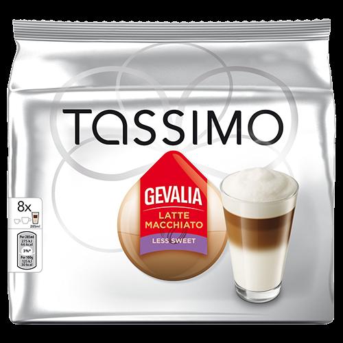 Gevalia Latte Macchiato Less Sweet Tassimo kaffekapslar 8st