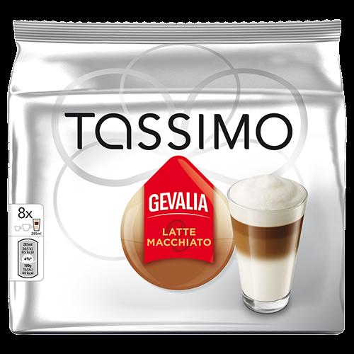 Gevalia Latte Macchiato Tassimo kaffekapslar 8st