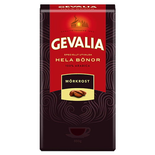 Gevalia Mörkrost kaffebönor 500g
