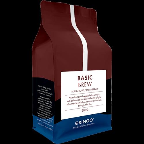 Gringo Basic Brew kaffebönor 500g