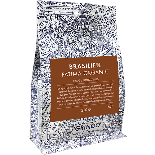 Gringo Brasilien Fatima Eko kaffebönor 250g