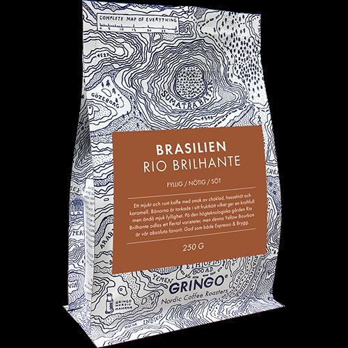 Gringo Brasilien Rio Brilhante kaffebönor 250g