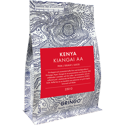 Gringo Kenya Kiangai AA kaffebönor 250g