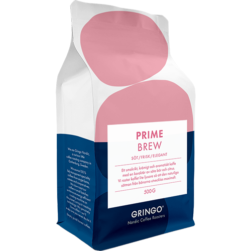 Gringo Prime Brew kaffebönor 500g
