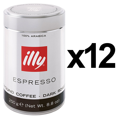 illy Espresso mörkrost malet kaffe 250g x12