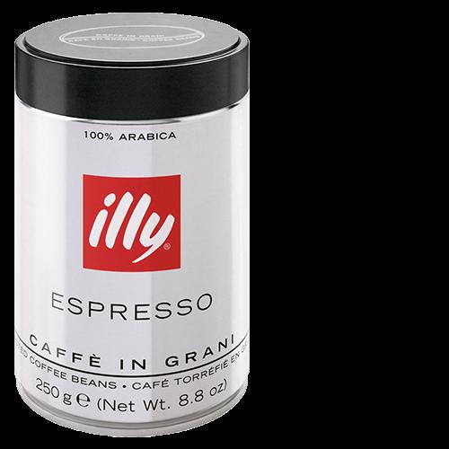 illy Espresso mörkrost plåtburk kaffebönor 250g x12