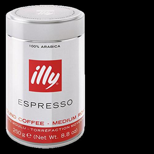 illy Espresso plåtburk malet kaffe 250g x12