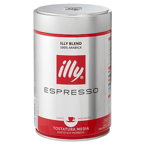 illy Espresso plåtburk malet kaffe 250g