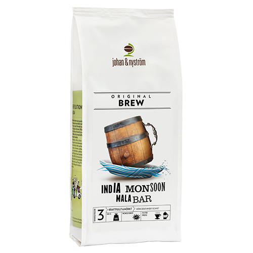 johan & nyström Indien Monsun Malabar kaffebönor 500g