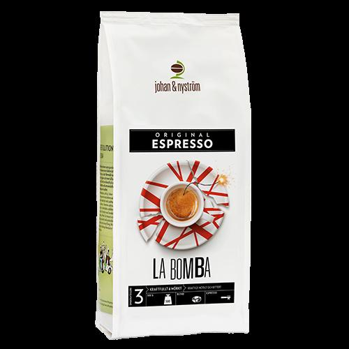 johan & nyström Espresso La Bomba kaffebönor 500g