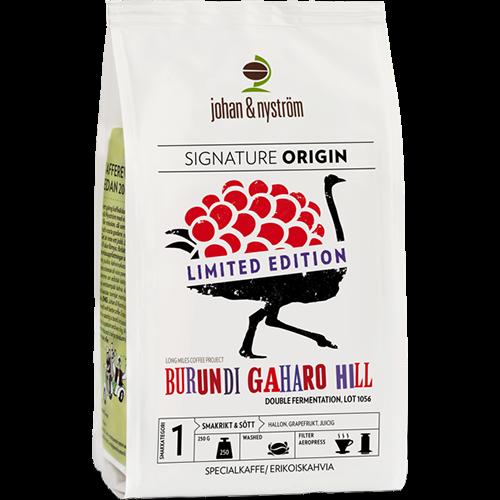 johan & nyström Burundi Gaharo Hill Double Fermentation kaffebönor 250g