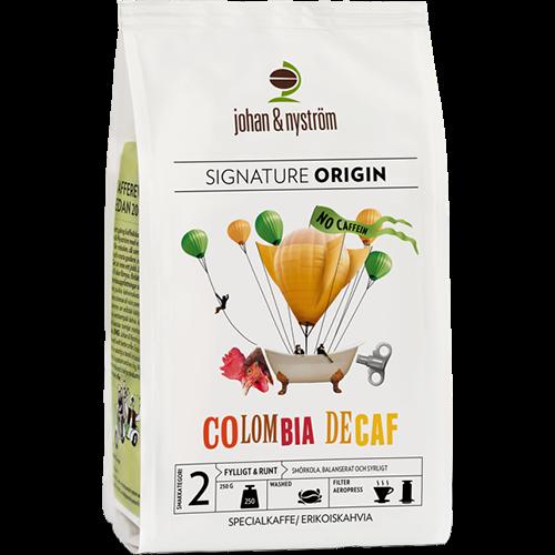 johan & nyström Colombia Decaf kaffebönor 250g