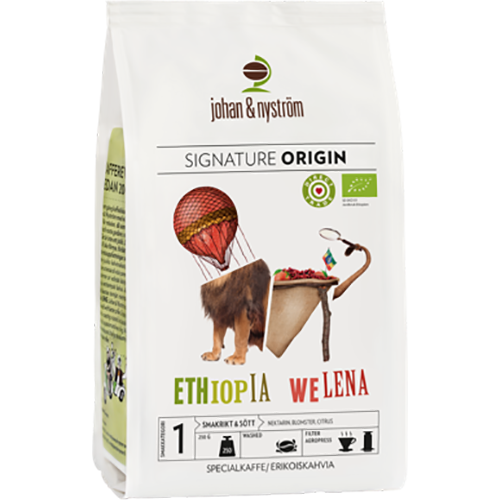 johan & nyström Ethiopia Welena kaffebönor 250g