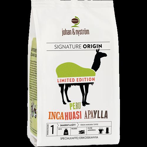 johan & nyström Peru Incahuasi Apaylla kaffebönor 250g