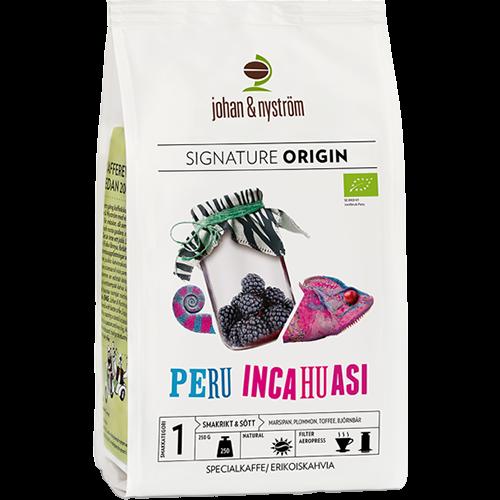 johan & nyström Peru Inchuasi kaffebönor 250g