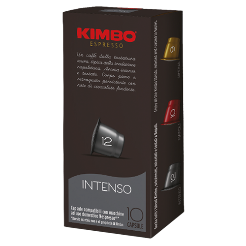 Kimbo Intenso Nespresso kaffekapslar 10st