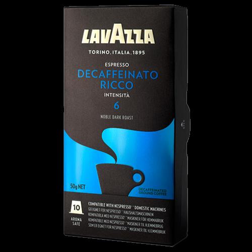 Lavazza Decaffeinato Ricco Nespresso kaffekapslar 10st
