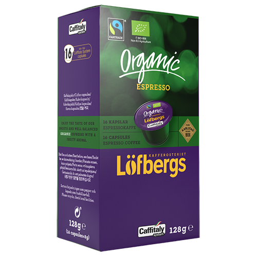 Löfbergs Lila Organic Espresso Caffitaly kaffekapslar 16st