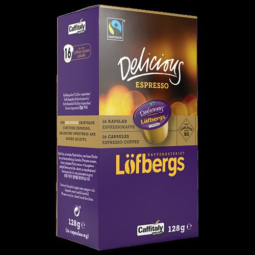 Löfbergs Lila Delicious Espresso Caffitaly kaffekapslar 16st
