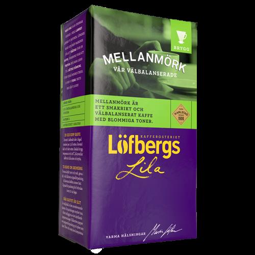 Löfbergs Lila Mellanmörk malet kaffe 500g