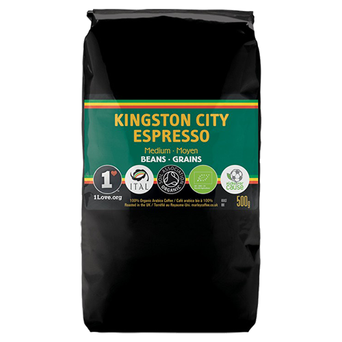 Marley Coffee Kingston City Espresso kaffebönor 500g