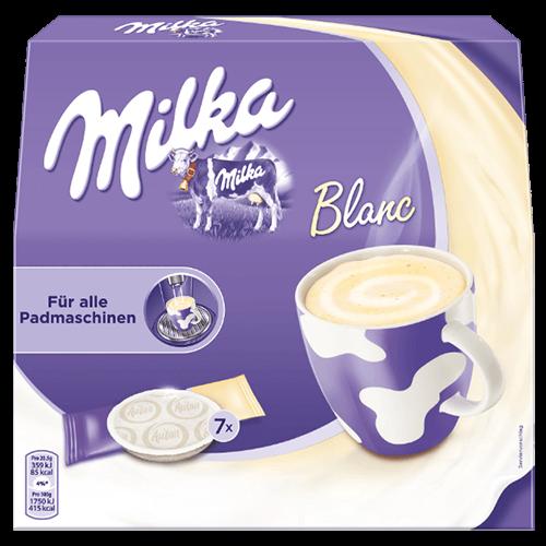 Milka vit chokladpads 7st