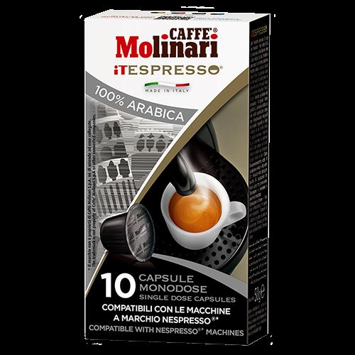 Molinari itespresso 100% arabica Nespresso kaffekapslar 10st