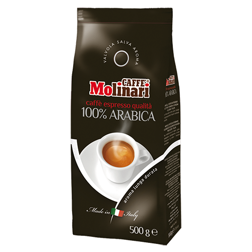 Molinari 100% Arabica kaffebönor 500g