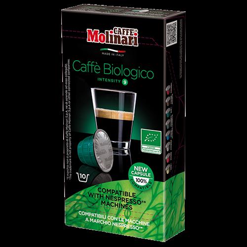 Molinari itespresso Bio 100% Arabica kaffekapslar till Nespresso 10st
