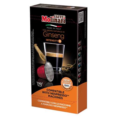 Molinari Ginseng Nespresso kaffekapslar 10st