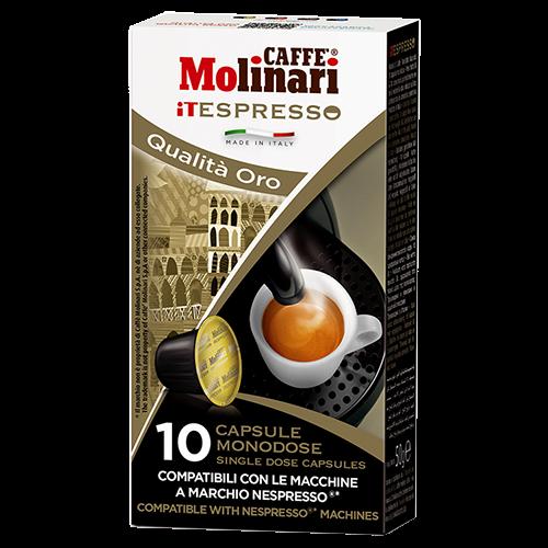 Molinari itespresso Oro Nespresso kaffekapslar 10st