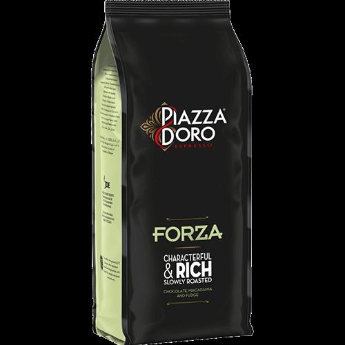 Piazza d'Oro Forza kaffebönor 1000g utgånget datum