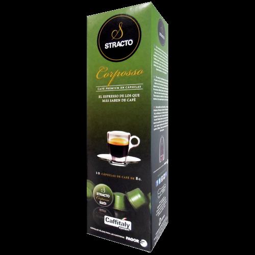 Stracto Corposso Caffitaly kaffekapslar 10st kort datum