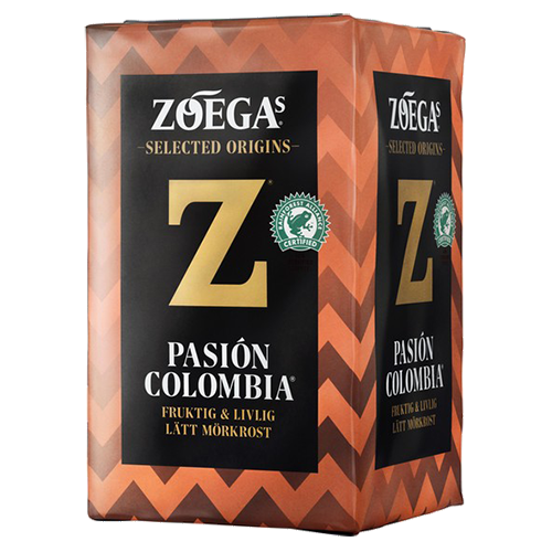 Zoégas Pasion Colombia malet kaffe 450g