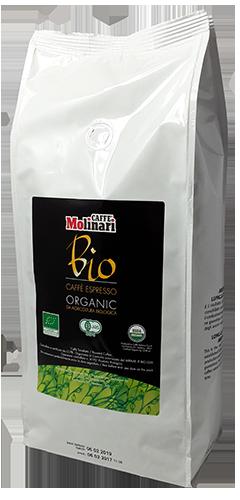 Molinari Bio Organic kaffebönor