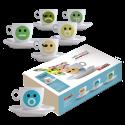 Molinari Emoticons cappuccinokoppar (med fat) 6st