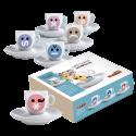 Molinari Emoticons espressokoppar (med fat) 6st