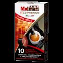 Molinari itespresso Qualità Rosso Nespresso kaffekapslar 10st
